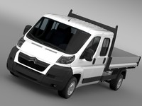 3d citroen relay crew cab model