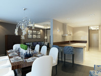 3d interior contemporary apartment model