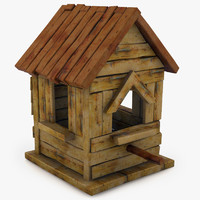 house birdhouse bird 3d 3ds