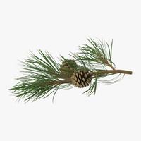 3d max pine tree 02