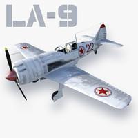 3d model la-9 fighter