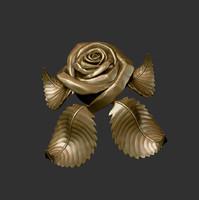3d model rose sculpture