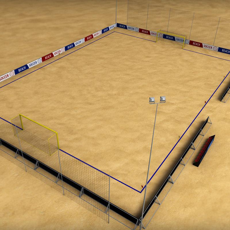 Beach soccer stadium field low poly 03.jpg