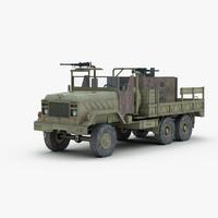 military armored gun truck 3d model