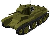 bt-7 tank 3d 3ds