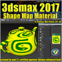3ds max 2017 Shape Map vol 59 MP4