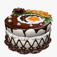 delicious cake 3d max