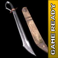 ready falchion sword 3d max
