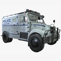 ready swat truck 3d model