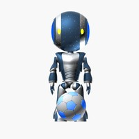 3d model robot player