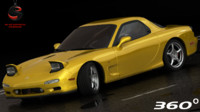 3d model mazda rx-7 1997 interior