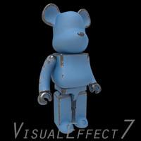 bearbrick brick bear 3d max