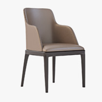 3d chair grace poliform model