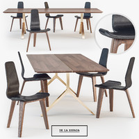 De La Espada Overton dining Table Tapas Chair