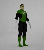 3d model green lantern