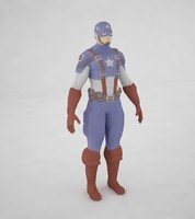 3d captain america toon model