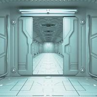 corridor sci-fi 3d model