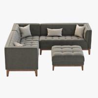 sofa modern gus 3d model