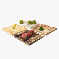 plywood wood fruit 3d model