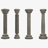 3d model of columns lightwave