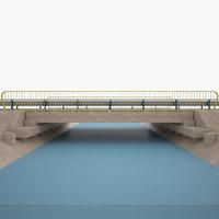 bridge river 3d model
