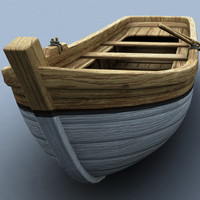 wooden rowboat 3d max
