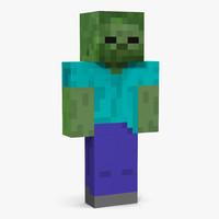 minecraft zombie obj