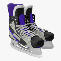 hockey skates generic 3d max