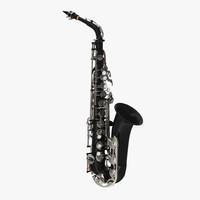 3d black saxophone