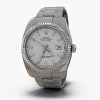 3d rolex datejust white gold model