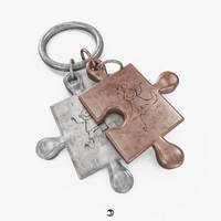 free pendant - puzzle 3d model