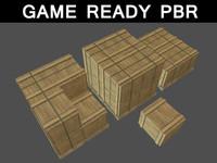 3d box wood m 01 model