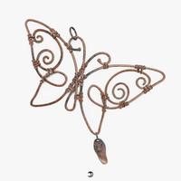 pendant - butterfly 3d model