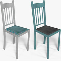 old chair wood 3ds