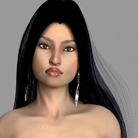 azumi female hair teeth mouth max