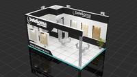3d model fair stand belekoma