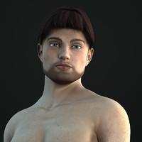 3d model michael v2 1 realistic male