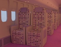 3ds airline cabin