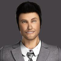 3d model hair 5 david body