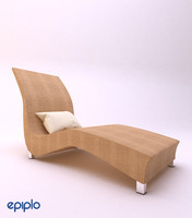 chaise lounge 3d obj