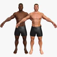 3d male combo pack 1 model