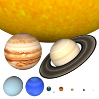 3ds scene solar planets sun