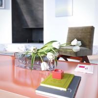 vase tulips 3d model