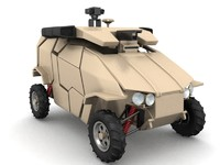guardium vehicle ugv 3d max
