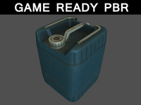 container plastic jug 01 3d model