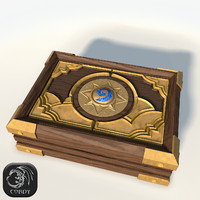 3d model box cards hearthstone lods