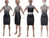 3D women dress cloth