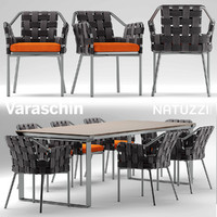 3d chair natuzzi table
