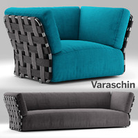varaschin sofa armchair 3d model