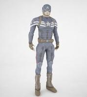3d captain america model
